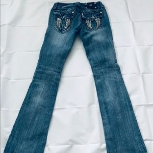 Miss Me Jeans - Miss Me Angel Wing Jeans Rhinestones Size 26